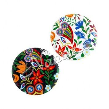 Magnes owal podhale kwiaty kolorowe