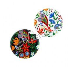 Magnes owal duży podhale kwiaty kolorowe