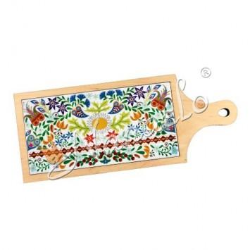 Deska dekoracyjna podhale kwiaty