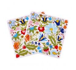 Podkładka pod kubek kaszubskie kwiaty 2szt