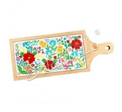 Deska dekoracyjna krakowskie kwiaty