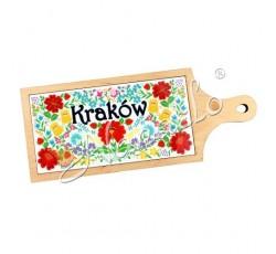 Deska dekoracyjna krakowskie kwiaty KRAKÓW