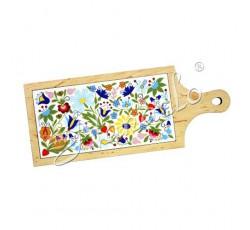 Deska dekoracyjna kaszubska kodra kwiaty 1