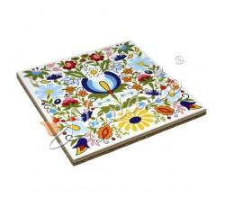 Podstawka pod garnek kaszubskie kwiaty kolorowe