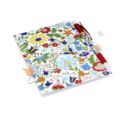 Zestaw notes T kaszubskie kwiaty kolorowe