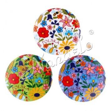 Lusterko kaszubskie kwiaty kolorowe