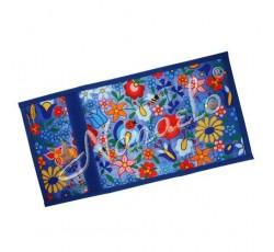 Portfelik kaszubskie kwiaty kolorowe