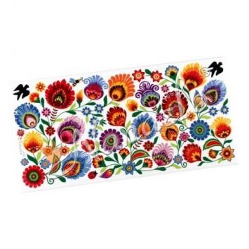 Dekor łowickie kwiaty