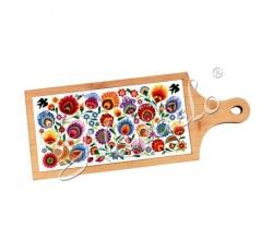 Deska dekoracyjna łowickie kwiaty