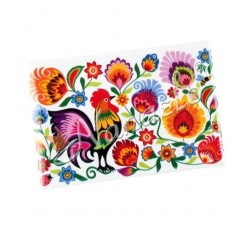 Magnes łowicki kogut w kwiatach