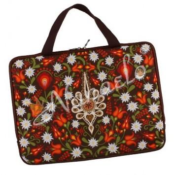 """Torba na laptopa """"15"""" podhalańska parzenica w kwiatach"""
