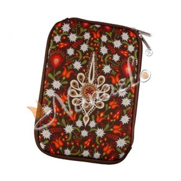 """Etui na tablet mini """"7"""" podhalańska parzenica w kwiatach"""