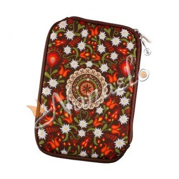 """Etui na tablet mini """"7"""" podhalańska rozeta w kwiatach"""