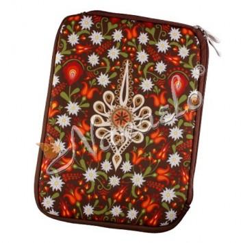 """Etui na tablet """"10"""" podhalańska parzenica w kwiatach"""