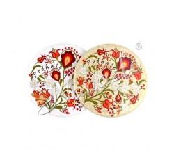 Magnes owal podhalańskie kwiaty III