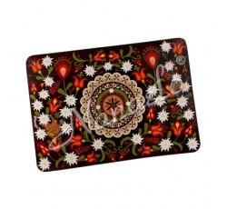 Mata na stół podhalańska rozeta w kwiatach