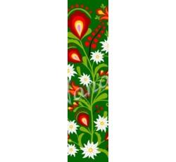 Zakładka podhalańskie kwiaty w zieleni