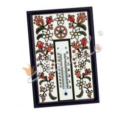 Termometr ceramiczny podhalańskie kwiaty