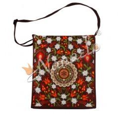 Torba na ramię podhalańska rozeta w kwiatach