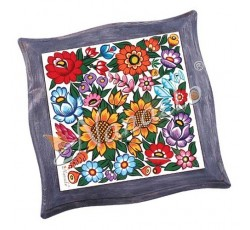 Podstawka pod garnek w ramie zalipiańskie kwiaty