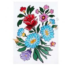 Rysunek zalipiańskie kwiaty Piotr Trójniak