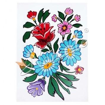 Rysunek zalipiańskie kwiaty rama Piotr Trójniak
