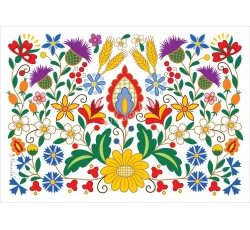 Pocztówka kociewskie kwiaty