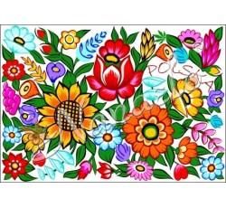 Pocztówka zalipiańskie kwiaty