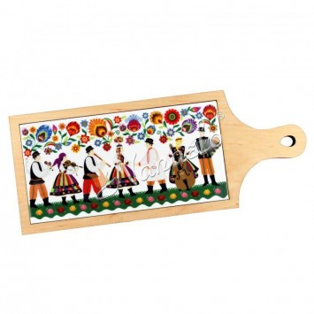 Deska dekoracyjna łowicka kodra wesele